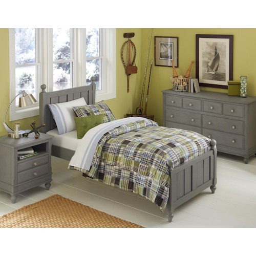 NE Kids Lake House Twin Kennedy Standard Bed Group 4