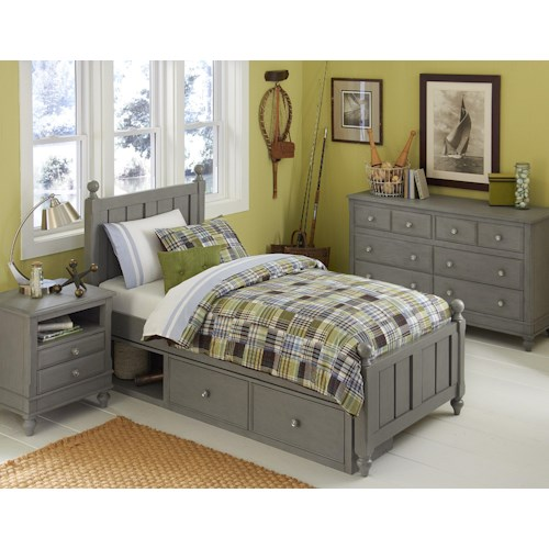 NE Kids Lake House Full Kennedy Storage Bed Group 4