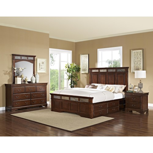 New Classic Madera  California King Bedroom Group