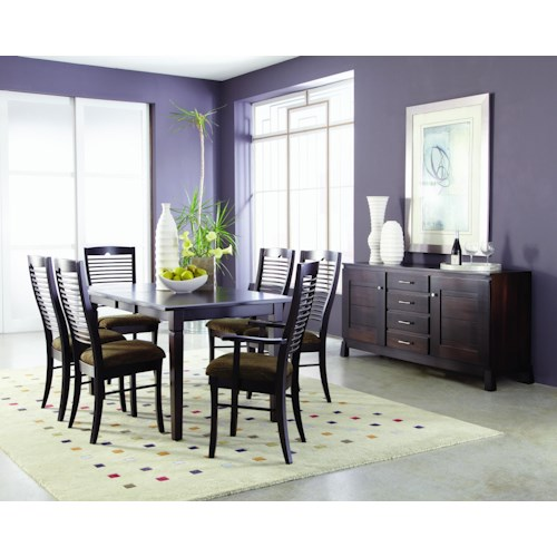 Palettes by Winesburg Romeo Formal Dining Room Group