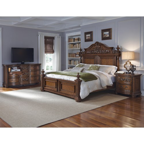 Pulaski Furniture Cheswick King Bedroom Group