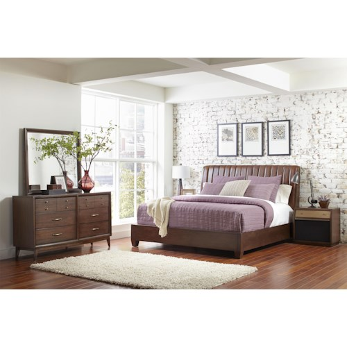 Pulaski Furniture Modern Harmony King Platform Bedroom Group