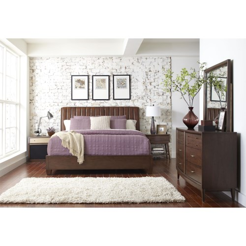 Pulaski Furniture Modern Harmony Queen Platform Bedroom Group