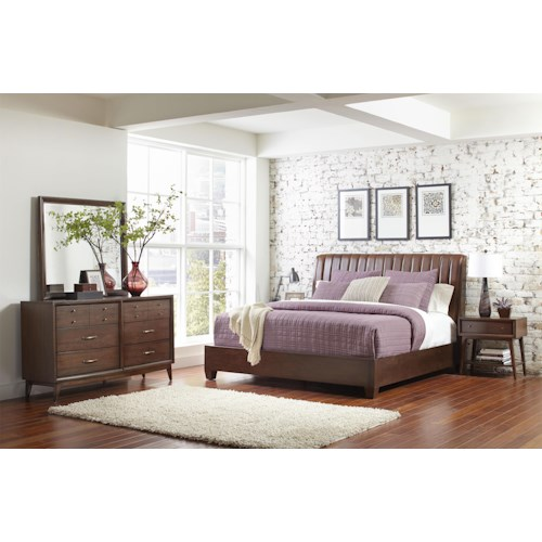 Pulaski Furniture Modern Harmony Cal King Platform Bedroom Group