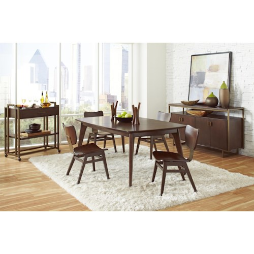 Pulaski Furniture Modern Harmony Formal Dining Room Group