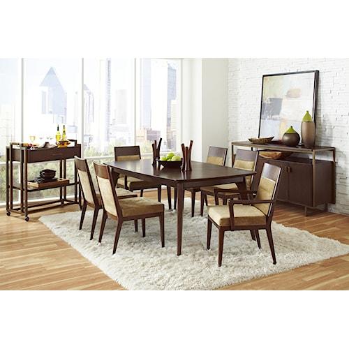Pulaski Furniture Modern Harmony Formal Dining Room Group