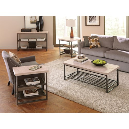 Riverside Furniture Capri 4 Piece Occasional Table Group