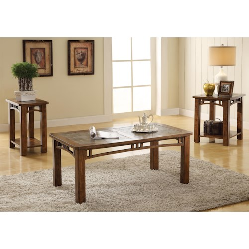 Riverside Furniture Preston 3 Piece Occasional Table Group
