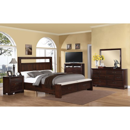 Riverside Furniture Riata Cal King Bedroom Group