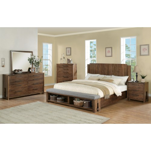 Riverside Furniture Terra Vista Cal King Bedroom Group