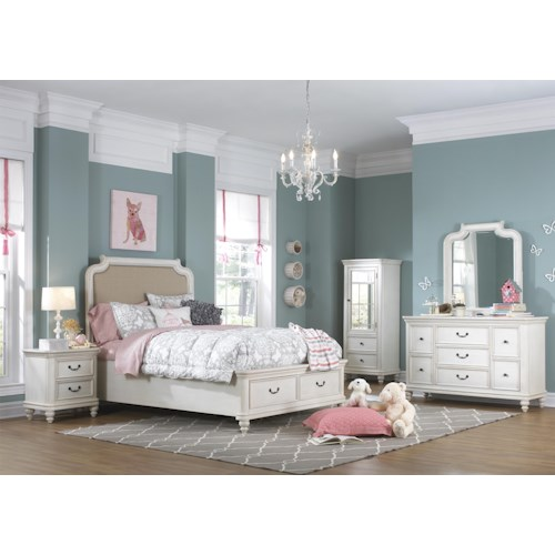 Samuel Lawrence Madison Full Bedroom Group w/ Storage Footboard