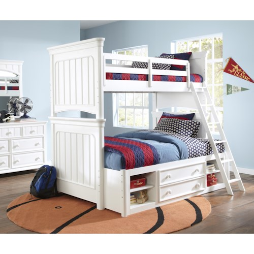 Kidz Gear Campbell Twin Over Full Bunk Bedroom Group