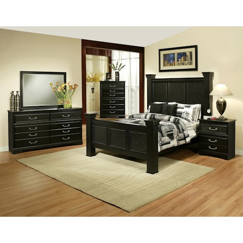 Sandberg Furniture Granada  Cal King Bedroom Group