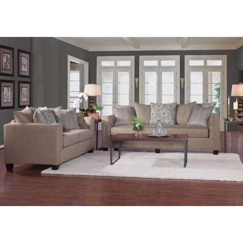 Serta Upholstery 4850 Stationary Living Room Group