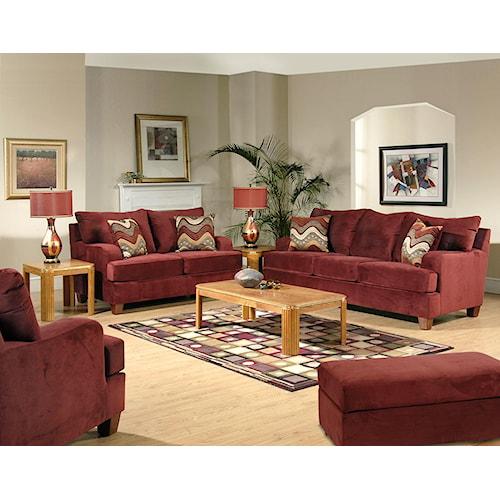 Serta Upholstery 9200 Stationary Living Room Group