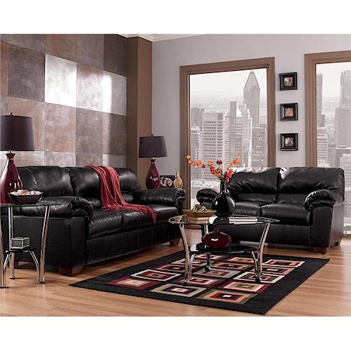 Signature Design by Ashley Commando - Black Stationary Living Room Group