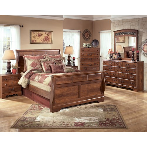 Signature Design by Ashley Pine Ridge Queen Bedroom Group