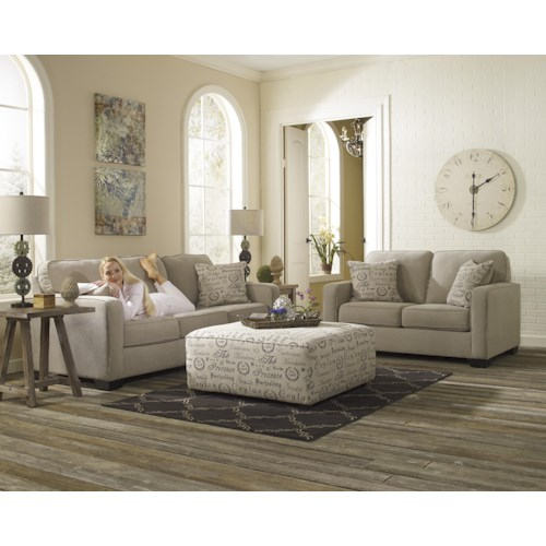 Signature Design by Ashley Furniture Alenya - Quartz Stationary Living Room Group