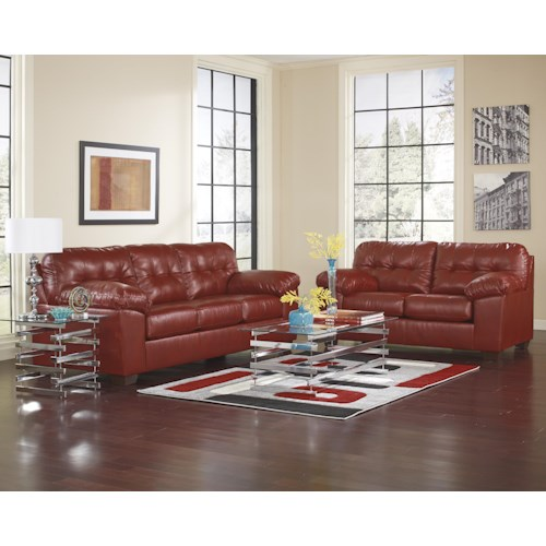 Signature Design by Ashley Furniture Alliston DuraBlend® - Salsa Stationary Living Room Group