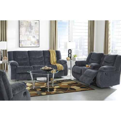 Signature Design by Ashley Garek - Blue Reclining Living Room Group
