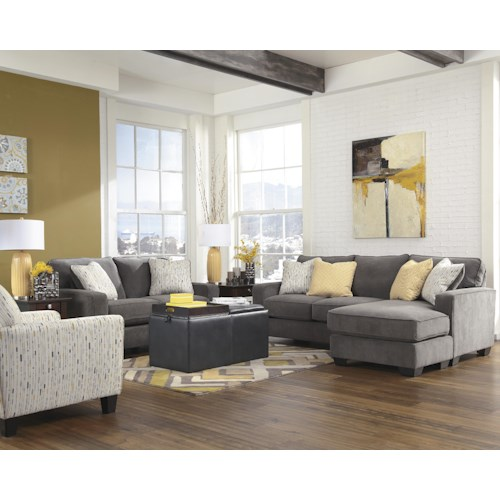 Signature Design by Ashley Hodan - Marble Stationary Living Room Group