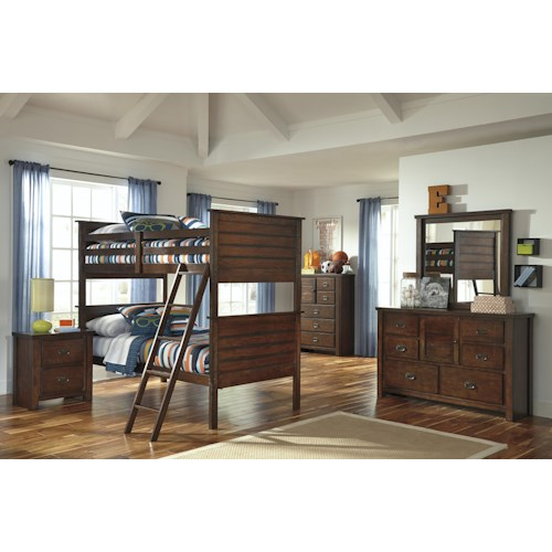 Signature Design by Ashley Ladiville Twin/Twin Bedroom Group