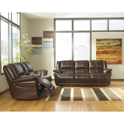 Signature Design by Ashley Lenoris - Coffee Reclining Living Room Group