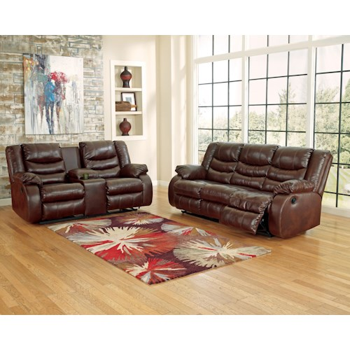 Ashley Linebacker DuraBlend - Espresso Reclining Living Room Group