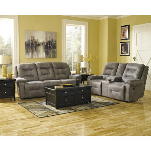 Signature Design by Ashley Rotation - Smoke Power Reclining Living Room Group