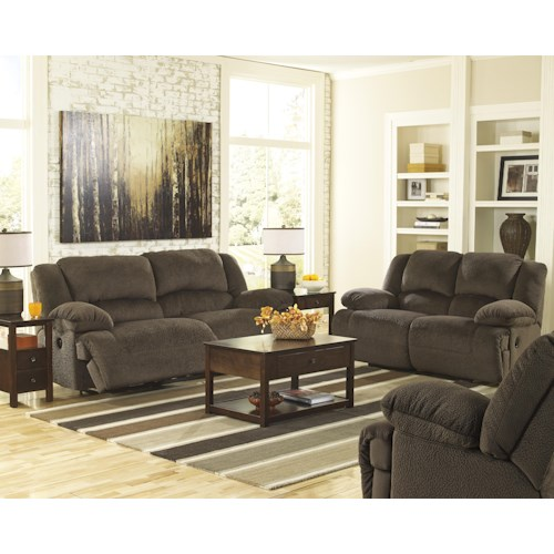 Signature Design by Ashley Toletta - Chocolate Power Reclining Living Room Group