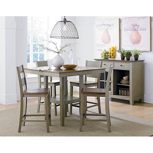 Standard Furniture Pendwood Sage Casual Dining Room Group