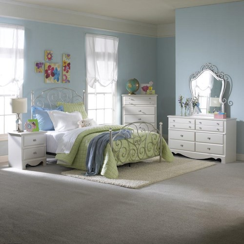 Standard Furniture Spring Rose Twin Bedroom Group