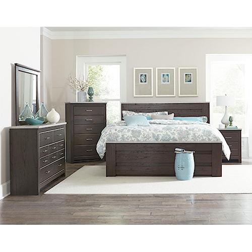 Standard Furniture Stonehill Dark King Bedroom Group