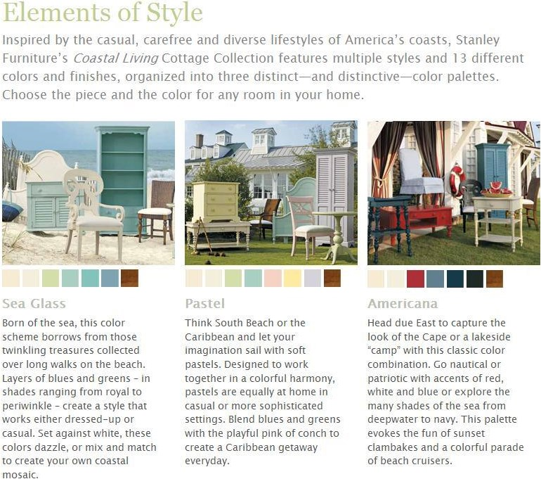 14 colors and finishes, organized into three distinctive color palettes that take inspiration from America's coasts.