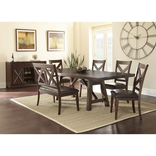 Steve Silver Clapton Casual Dining Room Group