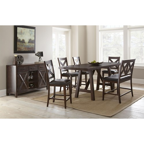 Morris Home Furnishings Clapton Casual Dining Room Group