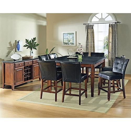 Morris Home Furnishings Granite Bello Casual Dining Room Group