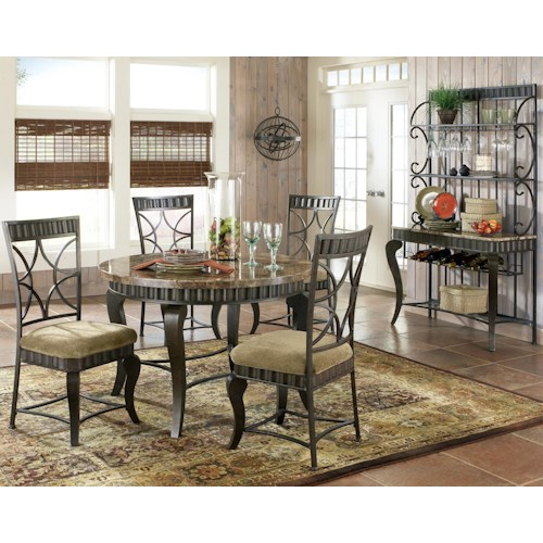 Morris Home Furnishings Hamburg Casual Dining Room Group