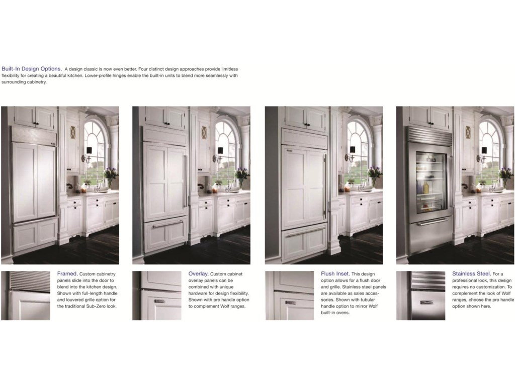 Framed, Overlay, Flush Inset and Classic Stainless Steel Design Options