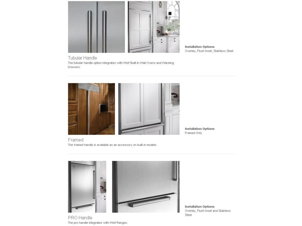 Sub zero counter depth refrigerator -  Handle Options Include Tubular Pro And Framed