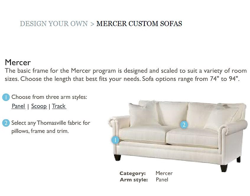 Customize with 3 Arm Styles and Assorted Fabrics and Finishes