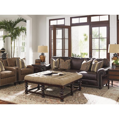 Tommy Bahama Home Kilimanjaro Stationary Living Room Group