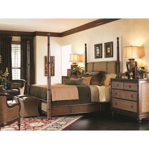 Tommy Bahama Home Landara King Poster Bedroom Group
