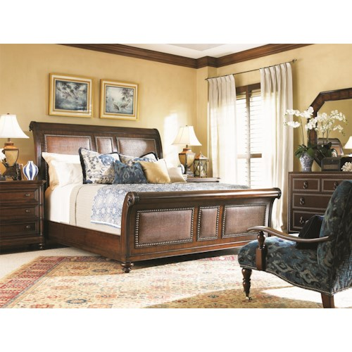 Tommy Bahama Home Landara King Sleigh Bedroom Group