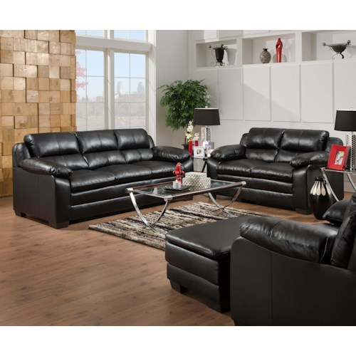 United Furniture Industries 5066 Stationary Sofa and Loveseat Group