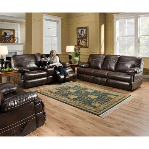 Simmons Upholstery 50981 Reclining Living Room Group