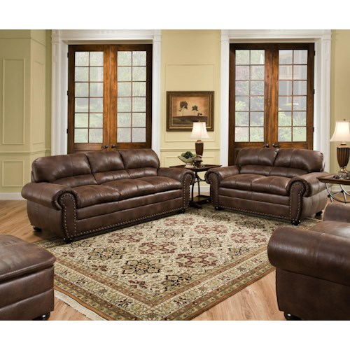 Simmons Upholstery 7510 Stationary Living Room Group