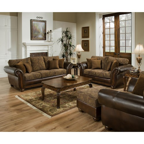 United Furniture Industries 8104 Stationary Living Room Group