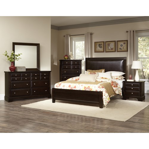 Vaughan Bassett Bedford King Bedroom Group