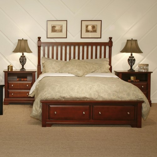 Vaughan Bassett Cottage Queen Bedroom Group
